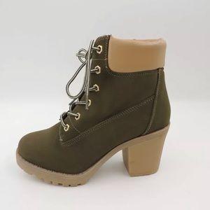 Zigisoho Combat Boots KIANA Green  Street Style 6